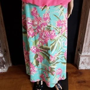 Sonoma Tropical Print Maxi Skirt